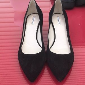 Emporio Armani black suede pumps great condition